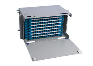 Rack Mounted 6U ODF Fiber Optic Distribution Box , 96core ODF Unit Box