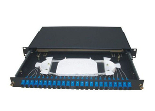 12 port SC Fiber Optic Terminal Box with 2U Rack Mounted Structure